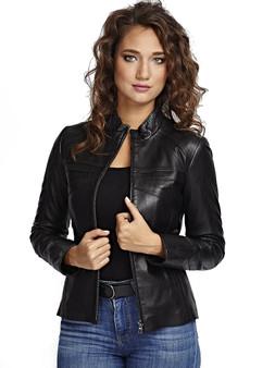 Women's Black Chest Detail Jacket Ho