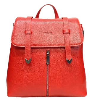 572 Red Leather Backpack