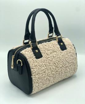 10015 Women's Merino Furry Faux Leather Bag