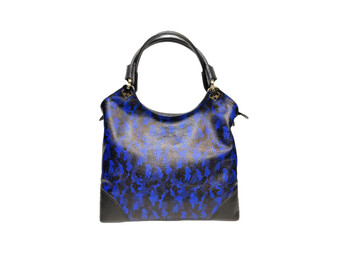 611 Women's Black & Indigo Leather Bag