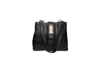 575 Women's Black Leather Bag