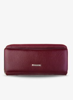 1263 Women's Burgundy leather wallet