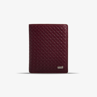 807 Burgundy leather wallet