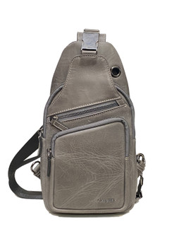 616 Grey Cross Bag
