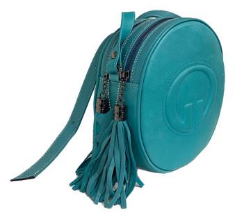605 Women's Leather Circle Bag