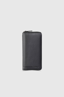 3016 Black Leather wallet & phonecase all around zip