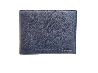 50 Blue Leather Wallet