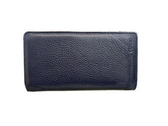 3046 Blue Leather Handbag & wallet