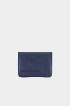 131 Blue Leather Cardholder