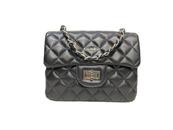10001 Black Leather shoulder bag