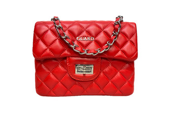 10001 Red Leather Shoulder Bag