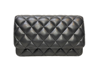 154 S Black Leather Shoulderbag & Clutch