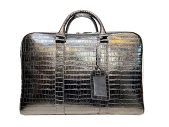 1814 Black Leather Travel bag