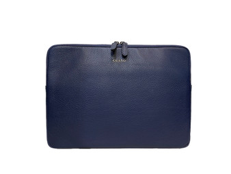 1806 Blue Leather Laptop case