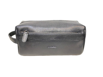 1903 Black Leather Washbag