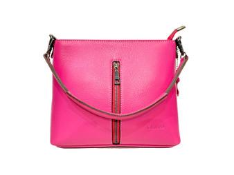 598 EL Pink Leather Handbag
