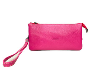 601 Pink Rect Cross Leather bag