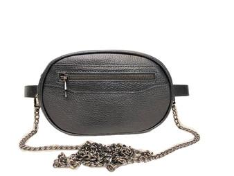 695 Black Leather Belt bag