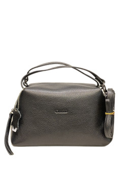 607J Black Leather handbag