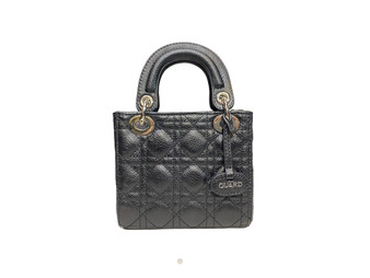 706 Black leather handbag