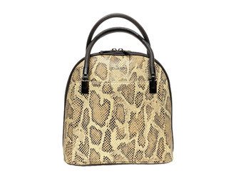 606 Serpentine Leather Bag