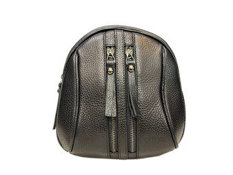 608 Black Leather Backpack