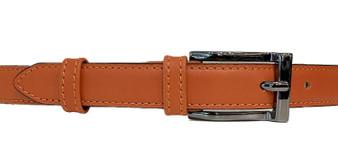 Women's Orange Leather Belt