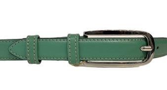 Women's Green Thin Leather Belt