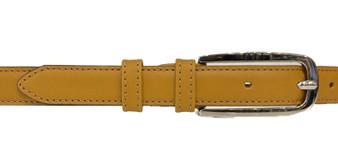 Women's Mustard Leather Belt