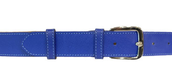 Women's Blue Thick Leather Belt
