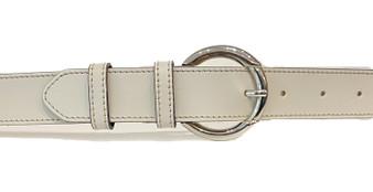 Women's Beige Leather Belt