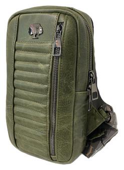 R104 Leather Shoulder Crossbody bag / Chest sling bag