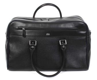 5010 Black leather travel bag