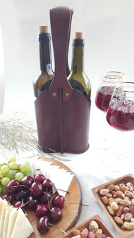 Handmade Full Grain Leather Wine  holder