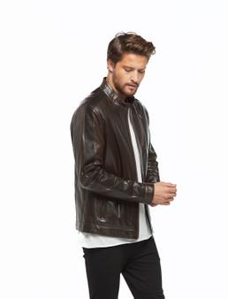 8778 Men's Brown Leather Jacket