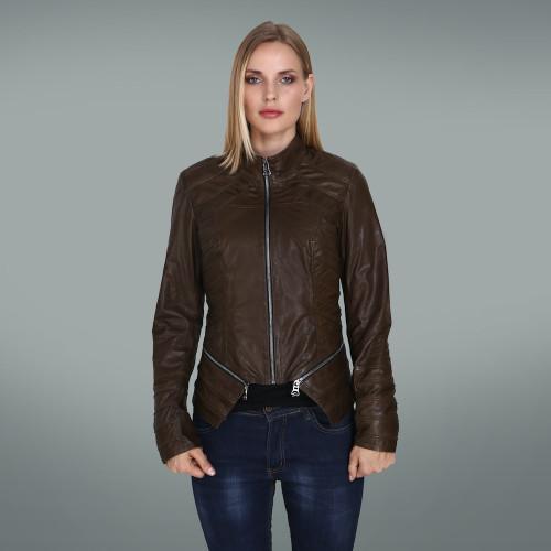 Women's dark Khaki Fit Jacket