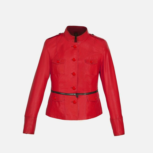 Women's Red Button Jacket