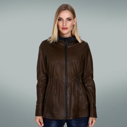Women's Dark Khaki Hoody jacket