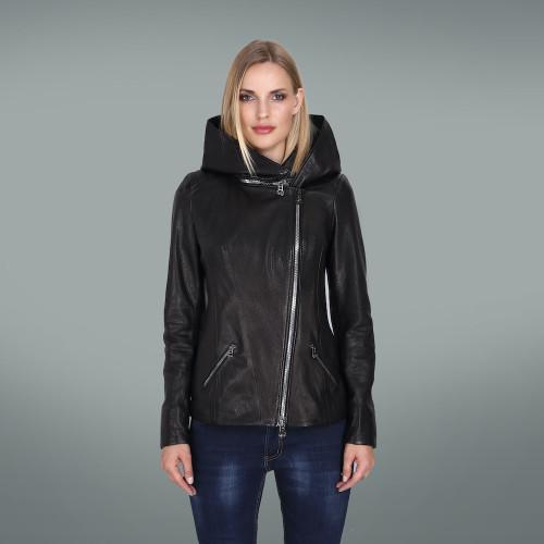 Women's Black Hoody Jacket