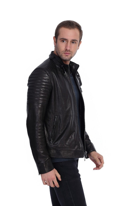 Men's Black Biker Jacket