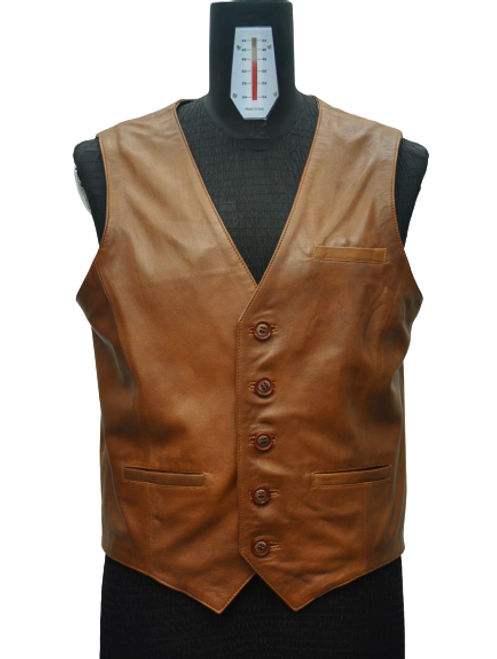 Men's Brown Vest with side details