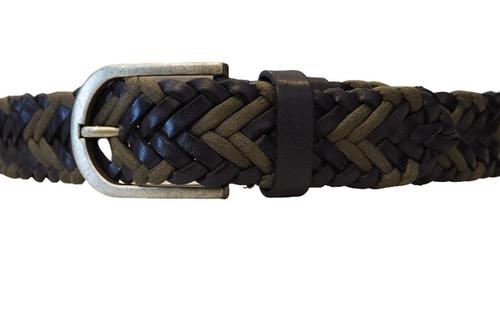 Woven Khaki & Dark Blue Belt
