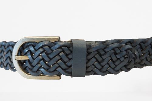 Woven Light Blue Belt