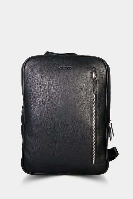 1812 Black Business Bag & Backpack with Zip details