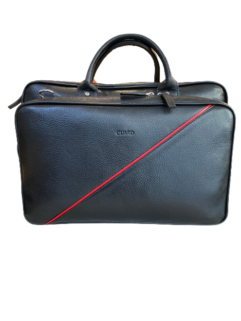 1721 Black Business Bag with a red diagonal detail