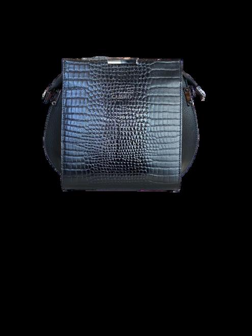 614 Black Croc Pattern Bag