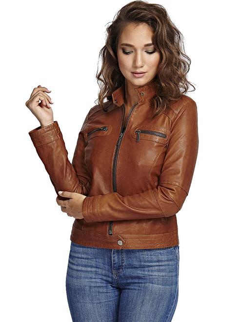 Women's Brown Jacket IN Ho