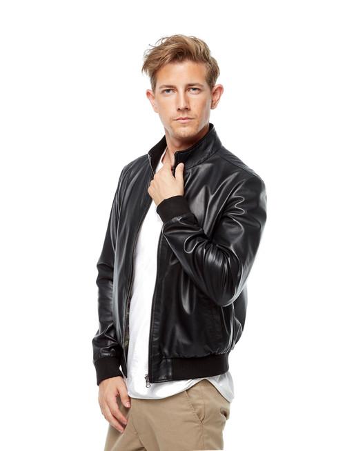 Men's Black Reversible Jacket  Burgundy in Ho
