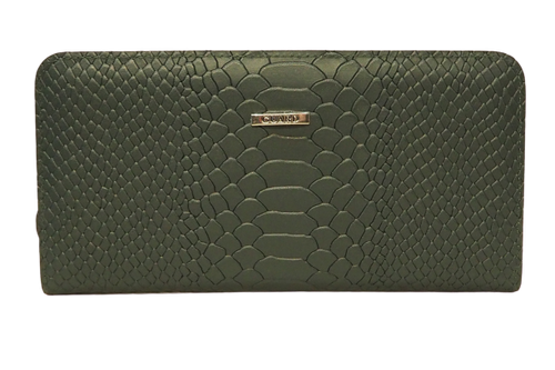 2227 Women's Dark Green Wallet with patterns