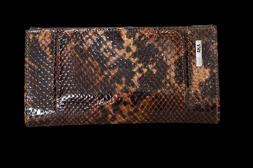 462 Women's snake pattern brown Wallet